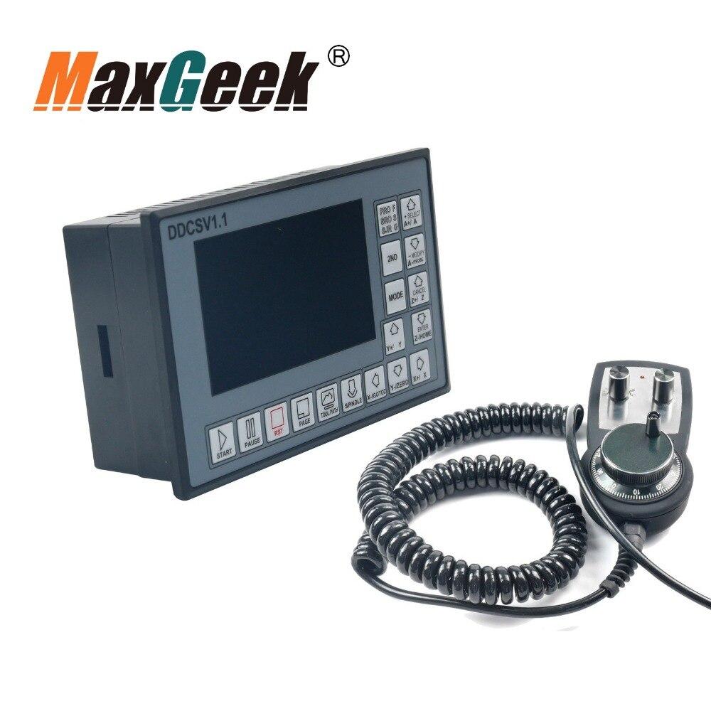 58555fe852a CNC 4-Driver de Motor de Passo Controlador de Movimento Do Eixo 500 khz 6  DDCSV1.1 + Padrão-axis Mpg volante de Emergência parar