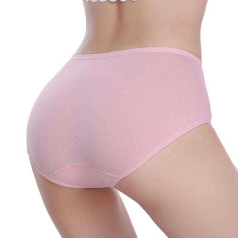 f2d4bf27a529 Mujeres algodón Bragas medio cintura caderas abdomen de las mujeres Ropa  interior color sólido transpirable señora Bragas brief calzones mujer de  marca cd31 ...