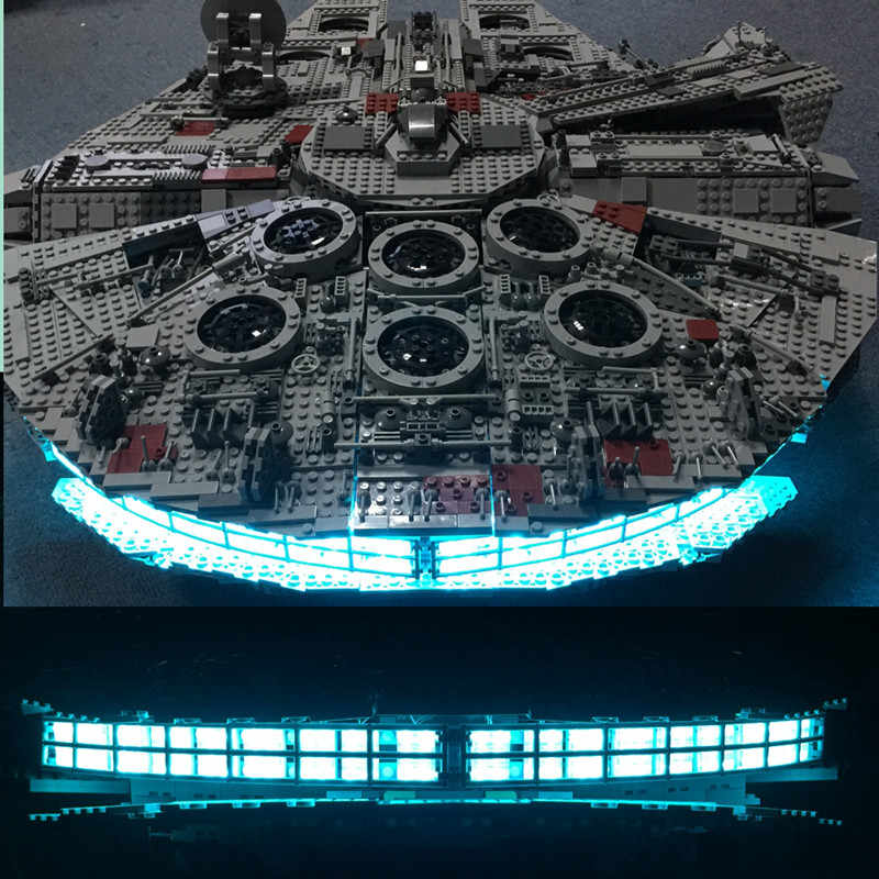 HA CONDOTTO LA luce up kit per lego 10179 e 05033 Star wars Finale Wars Millennium Modello Falcon Blocchi (includere solo luce)