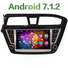 "8"" HD 2GB RAM Quad Core Android 7.1 Multimedia Car DVD Player Radio Stereo GPS Navi For Hyundai I20 Left Hand Driving 2014-2017"