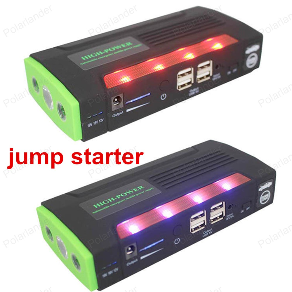 Multi-function Jump Starter 12000mAh Emergency Car Auto Power Bank External Battery Charger For Laptop Mobile Phone