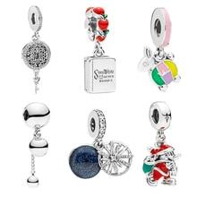 Alloy Pendant Rabbit Key Snowflake Santa Claus Beads Fit Pandora Charm Bracelets Bangles for Women Jewelry Making Gift snowflake santa claus gift leggings