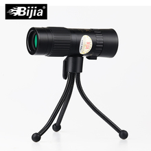 BIJIA 15-80x25 monocular telescope eyepiece portable and zoomable mini prismaticos  monocular telescope with garden tools