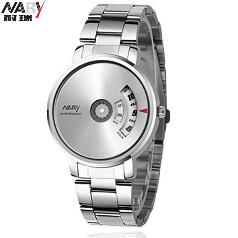 NARY Brand Classic Luxury Wrist Watch Man Original Wilon Fashion Genuine Steel Strap Turntable Dial Quartz Mens Watches Relogio