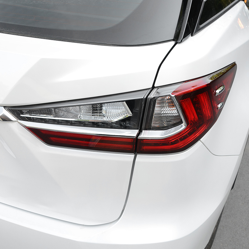 For <font><b>LEXUS</b></font> <font><b>RX350</b></font> 450h <font><b>accessories</b></font> 2017 <font><b>2018</b></font> ABS Chrome Rear Light Tail Lamp Eyebrow Below Decoration Cover Trim Car Styling 8pcs image