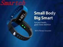 Новинка 2017 года V07 умный Браслет Приборы для измерения артериального давления умный Браслет Часы сердечного ритма Мониторы группа Беспроводной Фитнес часы для смартфонов