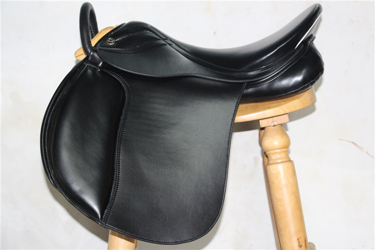 Aoud Saddlery Horse Riding Saddle Training Saddle PVC Tourist Saddle With Handle For Person Safety Comfortable Saddle