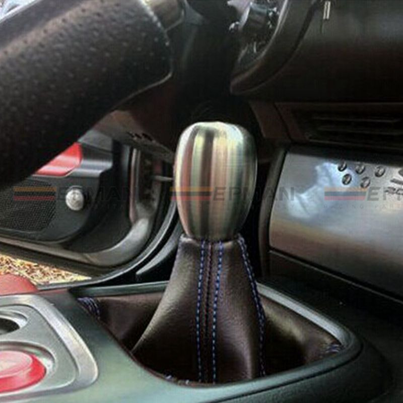 JDM Universal Black PVC Grain Shifter Knob Boot Cover Stitching Blue EP-PDT01PVC EPMAN Other Color:Red,Yellow