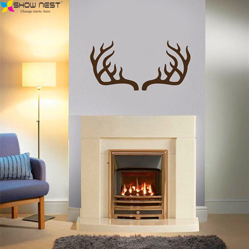 deer antler horns safari african animals nursery kids baby room bedroom wall decal vinyl wall stickers home decor design mural