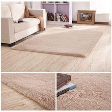 Tapete de piso de seda antiderrapante, tapete retangular europeu moderno e moderno para sala de estar e café, tapete de mesa, quarto grosso cobertor,