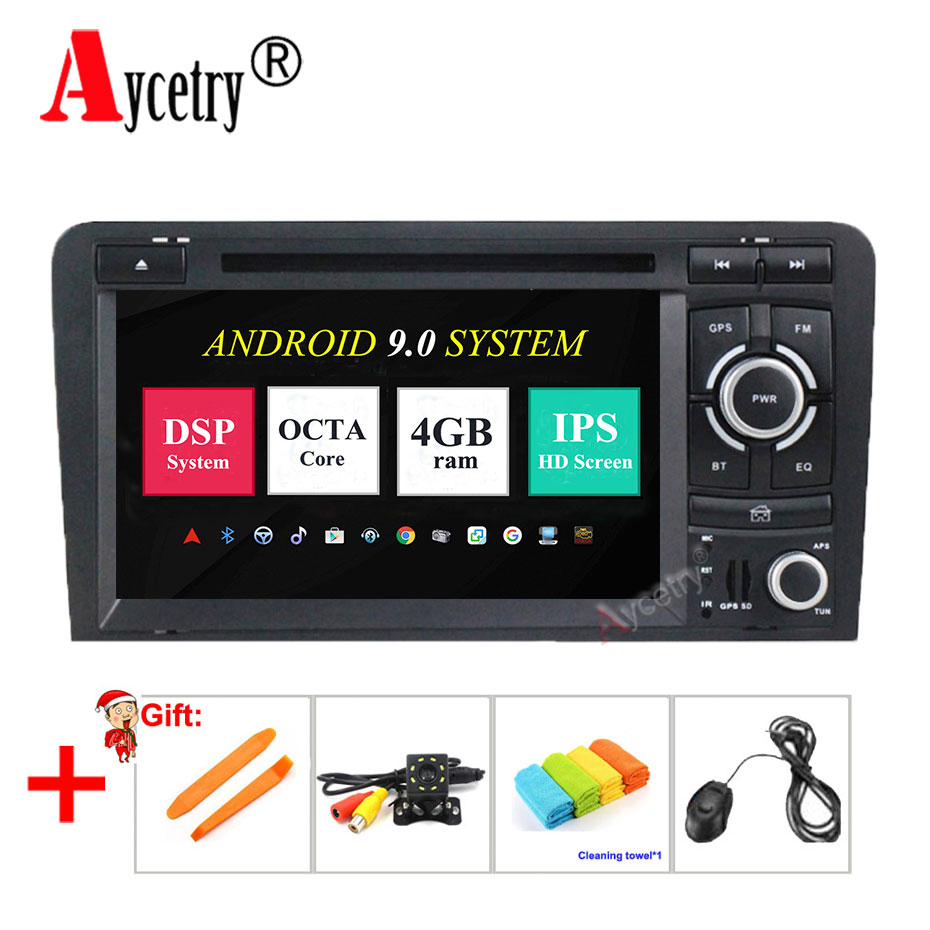 DSP IPS 8 core 4G RAM Android 9 0 2 Din Car multmedia DVD Player GPS