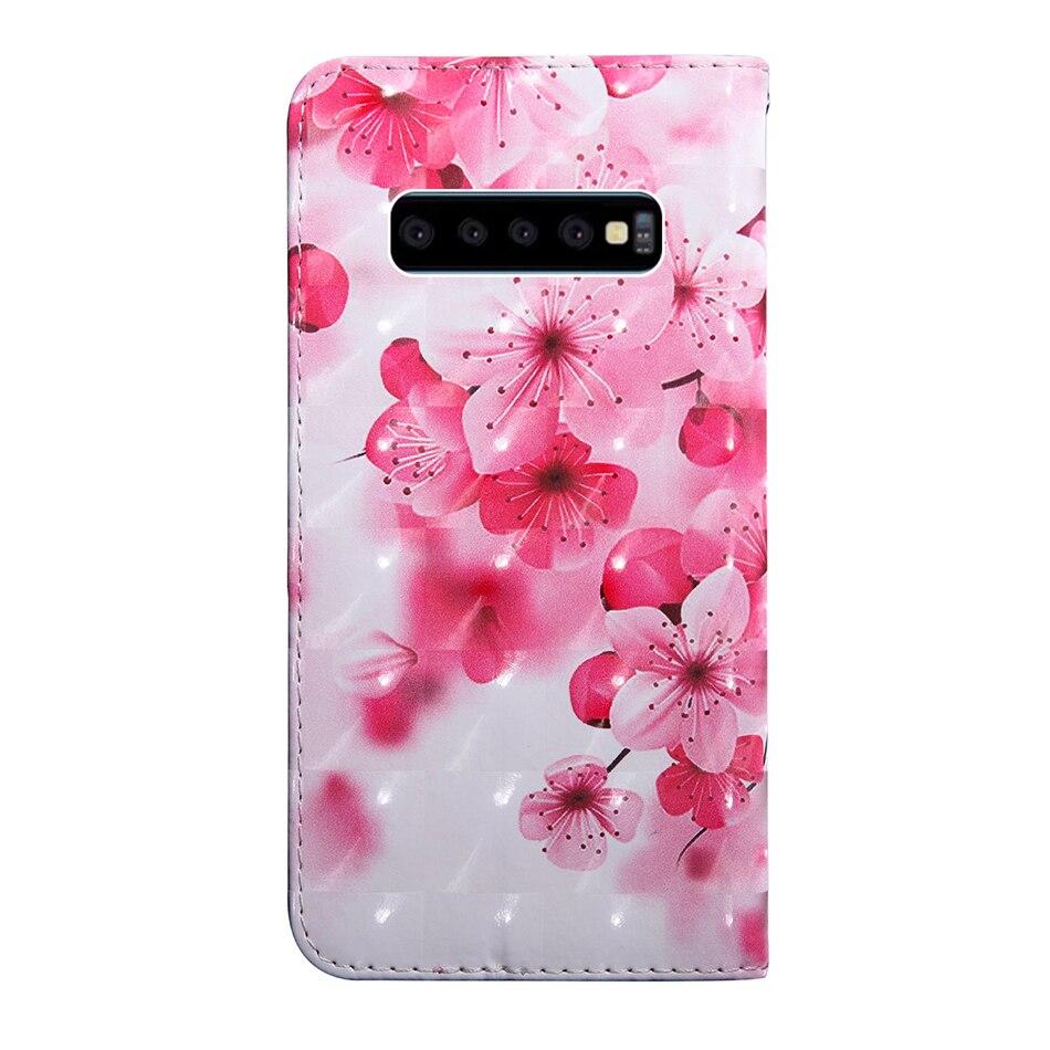 Wallet Flip Cases For Samsung Galaxy S10 E S9 Plus S9+ S8 S7 Edge G960F G965F G9550 G9350 Leather Cover With Hand Strap A332