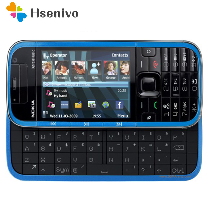 5730 100% Original Nokia 5730 XpressMusic original telefone desbloqueado quad band FM Rádio GSM Symbian celular Remodelado