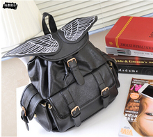 Мешок снова сладкий девочка дети ангел крылья рюкзак дети комикс цвет блок путешествие рюкзаки студент школа сумки