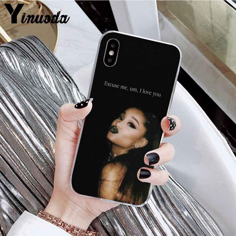 Yinuoda Ariana Grande AG Rainbow TPU โปร่งใสโทรศัพท์มือถือฝาครอบสำหรับ iphone ของ Apple iphone 8 7 6 6 S Plus X XS MAX 5 5 S SE XR กรณี
