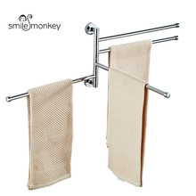 Smile Monkey 304 Stainless Steel Towel Bars Bathroom Pendant Anti-Rust Storage Rack