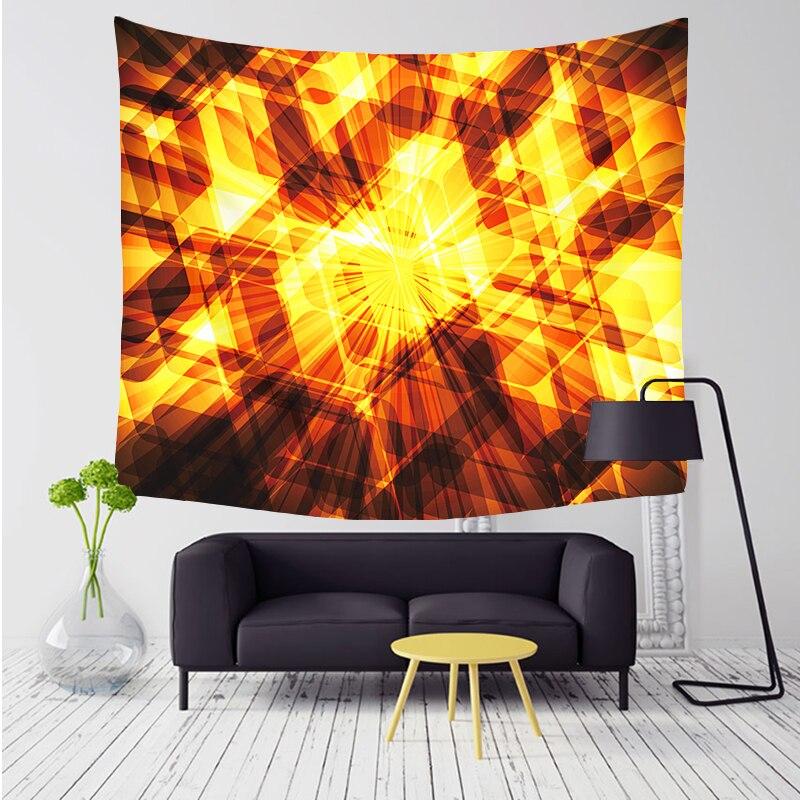 Comwarm unregelmäßige geometrische farbblöcke muster tapisserie wandbehang gobelin strand picknick yoga teppich für wohnkultur artting t005