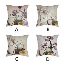 Cute rabbit print Cushion cover Easter Sofa Bed Home Decoration Festival Environmental protection Pillowcases Cushion Cover