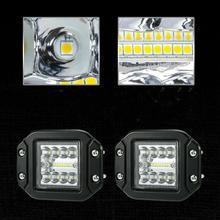2pcs 4inch 160W Flush Mount LED Work Light 12V Lens Flood  Pods Combo Driving Lamp 24V Pure White 6500K PMMA