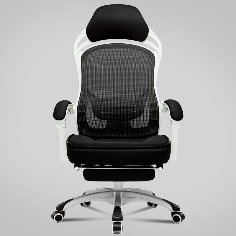 Mesh Cloth Ventilation Office Chair Reclining Lifted And Rotation Lounge Chair Household With Footrest Computer Swivel Chair