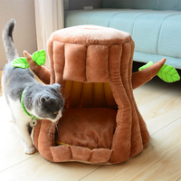 Portable Branch Pet Dog Houses for Small Dogs Cats Beds Removable Cover Soft Puppy Mat Foldable Cat Dog Kennel Warm Cushion