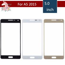 цена на 10pcs/lot For Samsung Galaxy A5 2015 A5000 SM-A500F A500F A500H Front Outer Glass Lens Touch Screen Panel Replacement