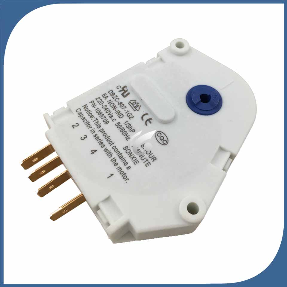 1pcs for new for Refrigerator defrost timer DBZC-807-1G2 Defrosting timer 2pcs lot for double door refrigerator defrosting temperature sensor 5k defrosting insurance 45cm