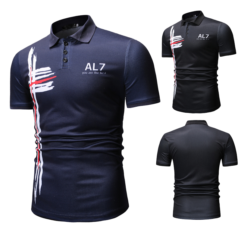 New Men's Casual Fashion   POLO   Shirt for Summer 2019