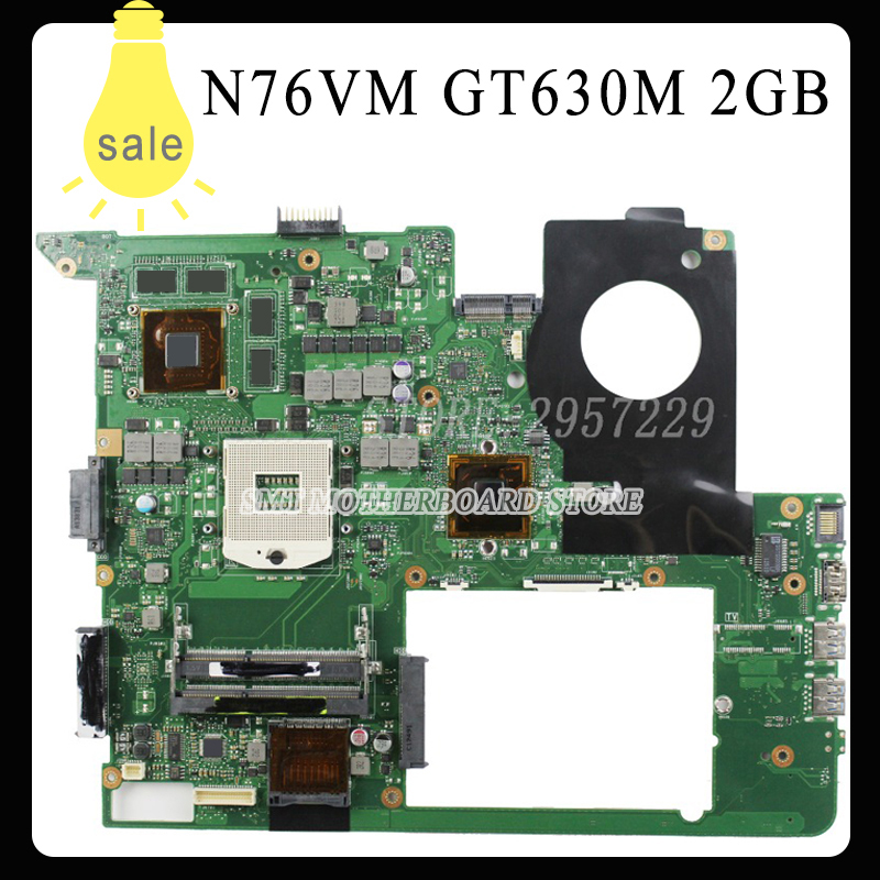 N76VJ N76VB N76VZ N76VM N76V REV:2.2 Laptop Motherboard 2GB USB3.0 N13P-GL-A1 GT630M fully tested & working perfect for asus n76vj n76vb n76vz n76vm n76v rev 2 0 laptop motherboard 2gb usb3 0 n14p ge op a2 gt740m fully tested
