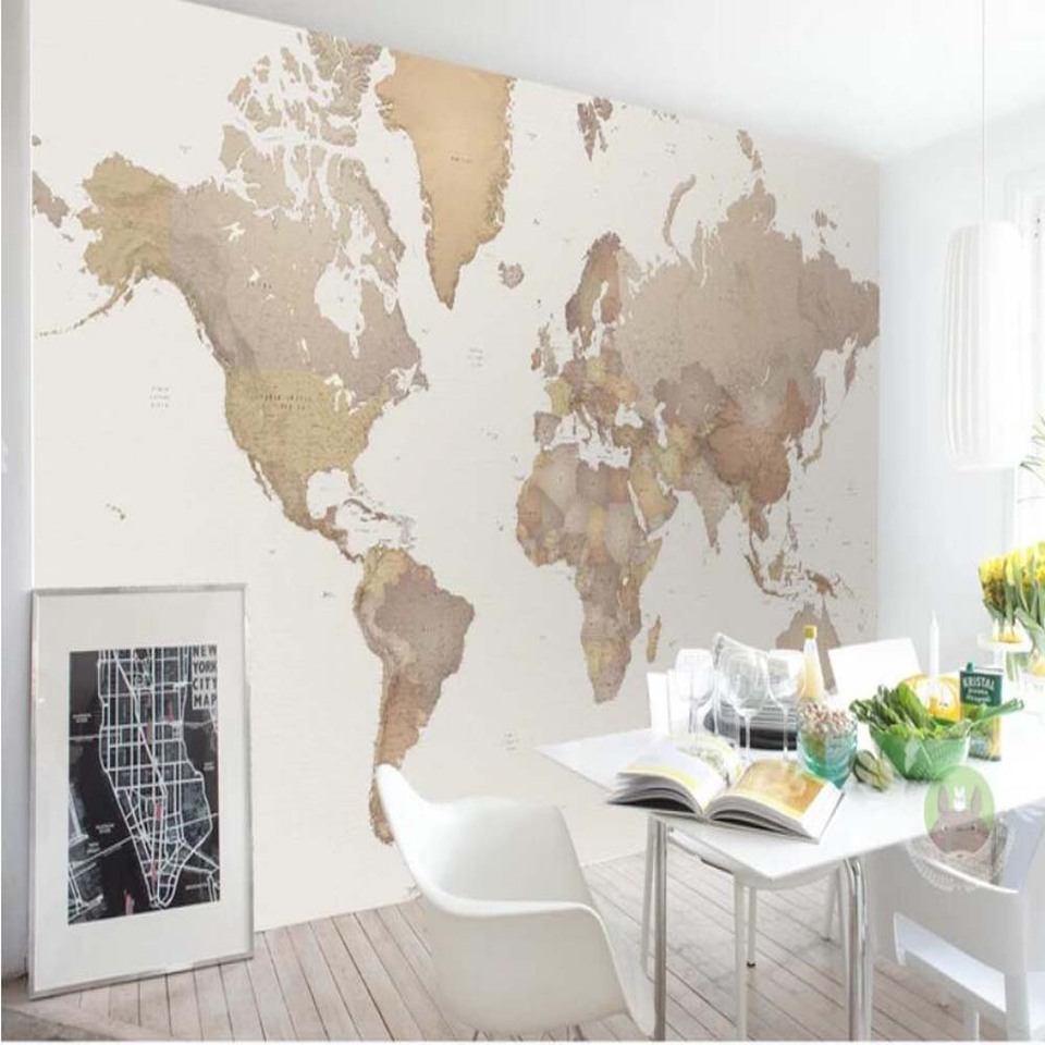 3d Nordic Vintage World Map Wallpaper Mural Creative Art Wall Wallpaper Murals Bedroom Hd Printed Scenery Wall Paper Roll Aliexpress,What Is A Neutral Color Palette