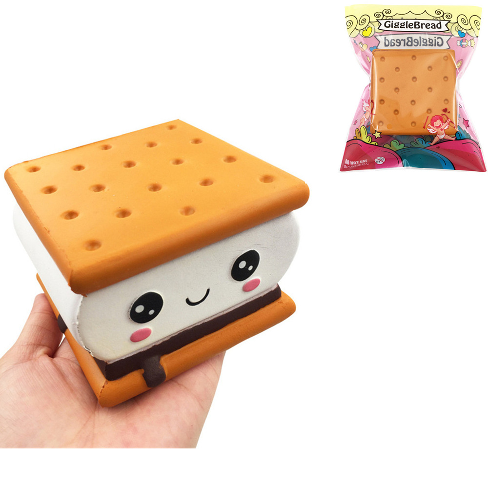 Mobile Phone Accessories Kawaii Toast Bread For Squishy Jumbo Toy Kids Best 14cm Slow Rising Squishies Cake Toy Collection Gift Toy Phone Strap Key Charm
