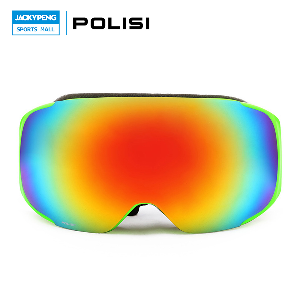 POLISI Men Women Snowboard Snowmobile Goggles Skiing Skate Snow Glasses Polarized Motocross Goggles  Gafas De Esquiar retro women sunglasses polarized driving sun glasses with pc metal hinge shades uv400 protection gafas de sol mujer 4 colors