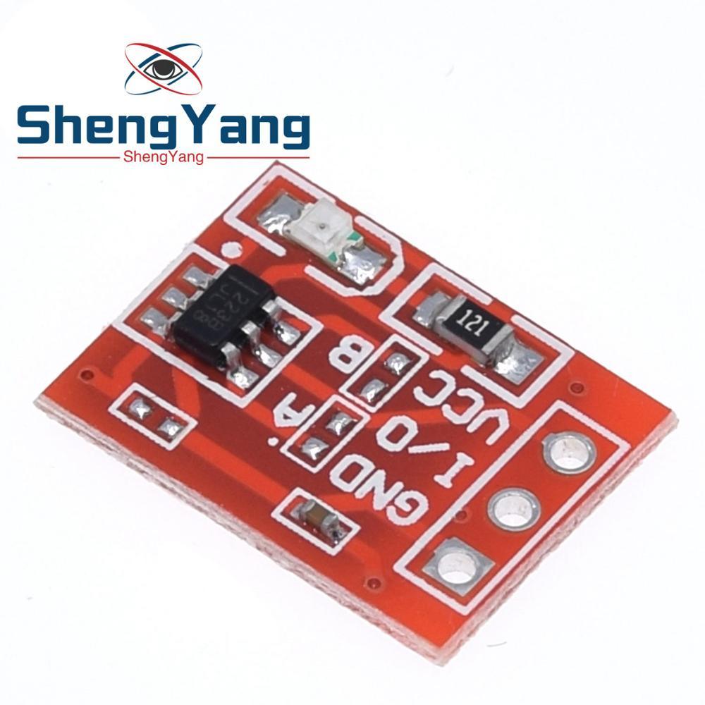 10 шт. ShengYang Новый TTP223 сенсорный кнопочный модуль конденсаторного типа одноканальный самоблокирующийся сенсорный переключатель датчик