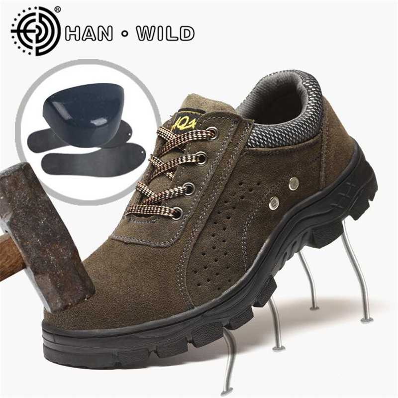 Men Boots Work Safety Shoes Steel Toe Cap Boots For Men Anti-Smashing Puncture Proof Shoes Breathable Protective Footwear U free shipping men steel toe cap work safety shoes reflective casual breathable hiking boots puncture proof protection footwear