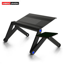 MAGIC UNION Adjustable Portable Laptop Stand Folding Table Sofa Bed Tray Computer Notebook Desk Bedroom mesa with Mouse Table(China)