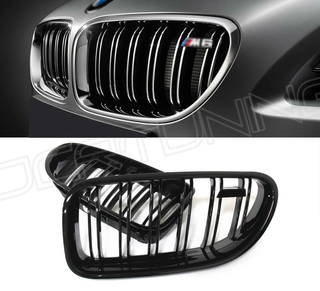 Front Grille For BMW M 6 Series F06 F12 F13 M6 2012 2013 2014 2015 - on bumper grille grill with m6 emblem for 640i 650i 640d single grid gloss black front bumper grill replacement for bmw 3 series f34 gt gran turismo 320i 328i 335i 2013 2014 2015 2016