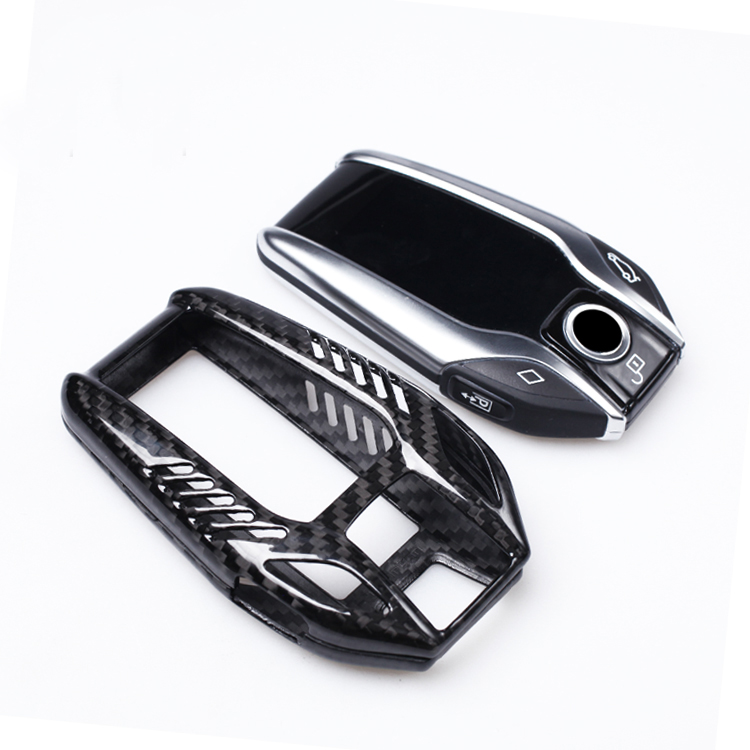 DEE Carbon Fiber Key Shell Cover Case Decoration For BMW New 7 Series 5 series I12