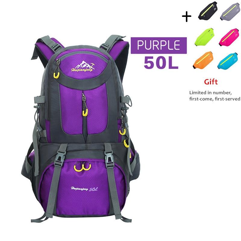 Trekking Backpack 60L Waterproof Sports Bag Travel Backpack Climbing Mountain Bag Hiking Camping Skiing Tourist Backpack 50L