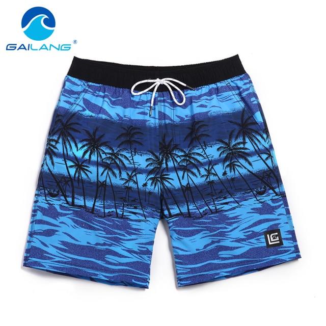 Gailang Marca Hombres Boxeadores Cortos Trunks Beach Shorts Bermuda hombres Fuera Ocasional Hombre nuevos Pantalones Cortos Trajes de Baño traje de Baño de Secado rápido