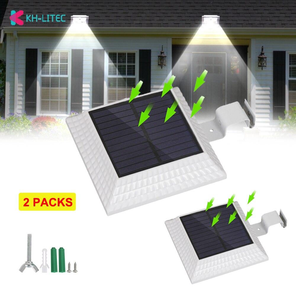 2 Paket Sun Power Smart 12 Led Solar Gutter Licht Für Häuser Outdoor Zaun Garten Wand Hof Schuppen Gehwege Überall Solar Lampe Elegant Im Stil
