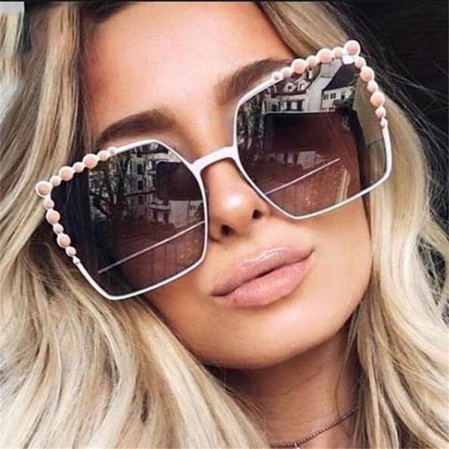 57791b152 الماس مربع النظارات الشمسية النساء أزياء العلامة التجارية الفاخرة مصمم خمر نظارات  شمسية الإناث مرآة نظارات
