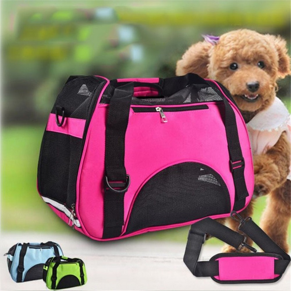 Pet Carrier Outdoor Breathable Folding Luggage Airline Approved Shoulder Dog Cat Travel With Replacement Pad Arm Sling
