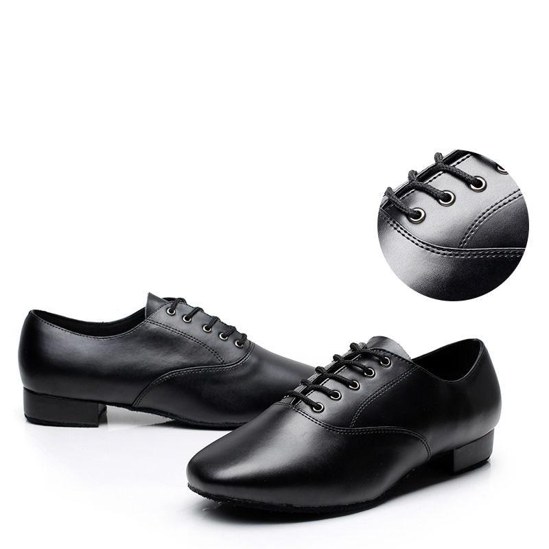 Επαγγελματικά παπούτσια λαϊκών χορού Μάρκα Ανδρών Αθλητισμός Ballroom Jazz Shoes Durability Κοινωνικά παπούτσια χορού Full Leather Grain 9013
