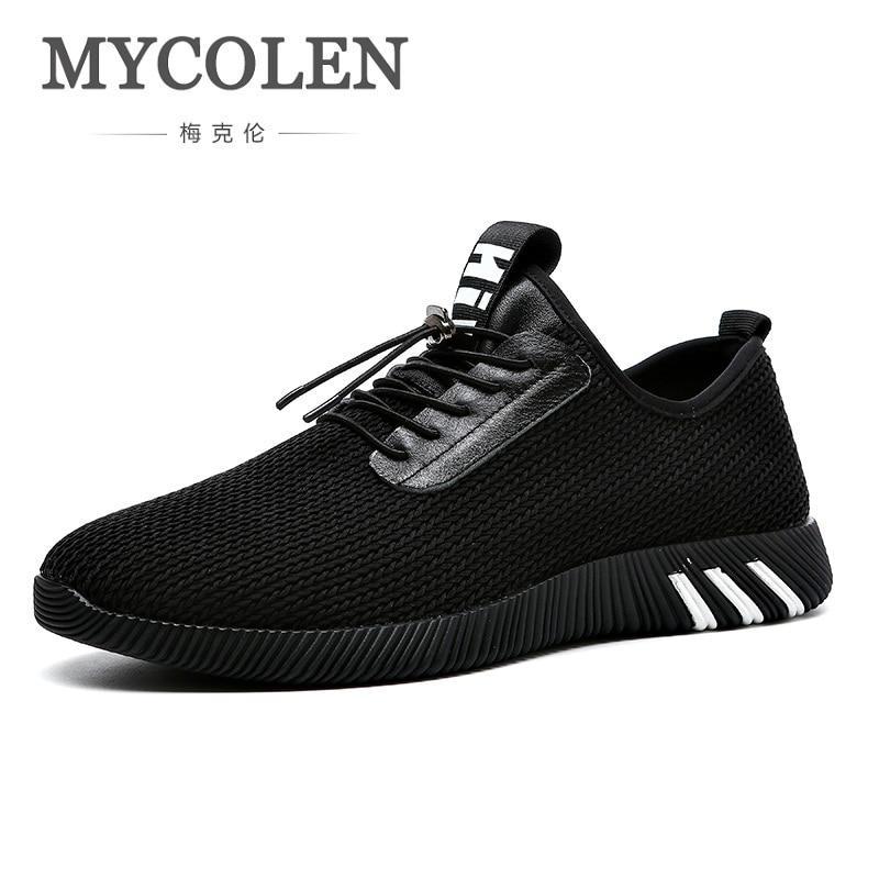 MYCOLEN été haute qualité chaussures hommes 2018 nouvelles chaussures en maille respirant baskets hommes mode solide loisirs chaussures Soulier Homme
