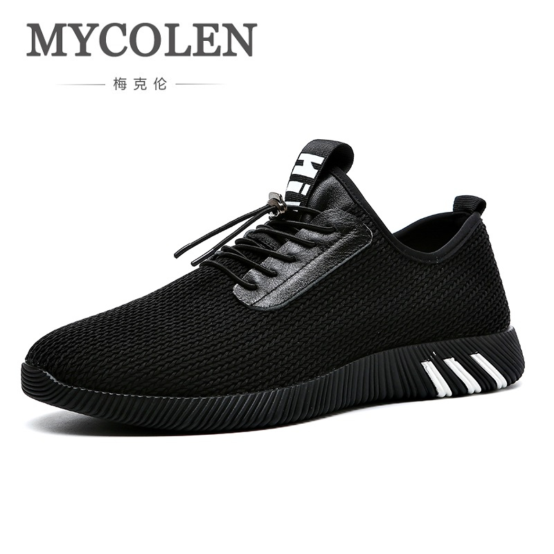 MYCOLEN Лето Высокое качество обувь для мужчин 2018 новая сетчатая обувь дышащие кроссовки мужские модные однотонные туфли для отдыха Soulier Homme