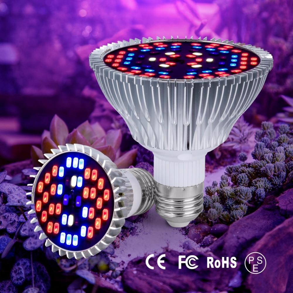 E27 Led Full Spectrum Plant Grow Light 85-265V Growth Lamp 40 78 120leds Bulb 220V Flower Grow Tent Hydroponics Seedling Lampada