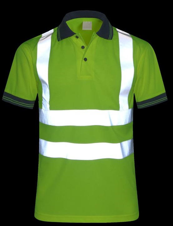 Breathable mesh reflective T-shirt safety riding clothing traffic police overalls