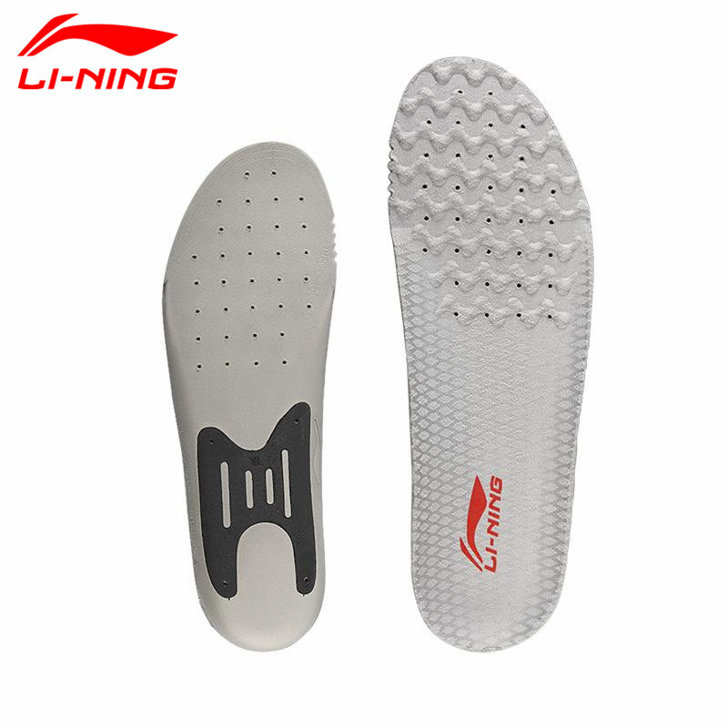 Lining Sports Shoe Insoles for Men Badminton Athletic EVA Cushioning Insole Comfort Breathable Shock Anti-skid Pads L620OLA li ning professional badminton shoe for women cushion breathable anti slippery lining shock absorption athletic sneakers ayal024