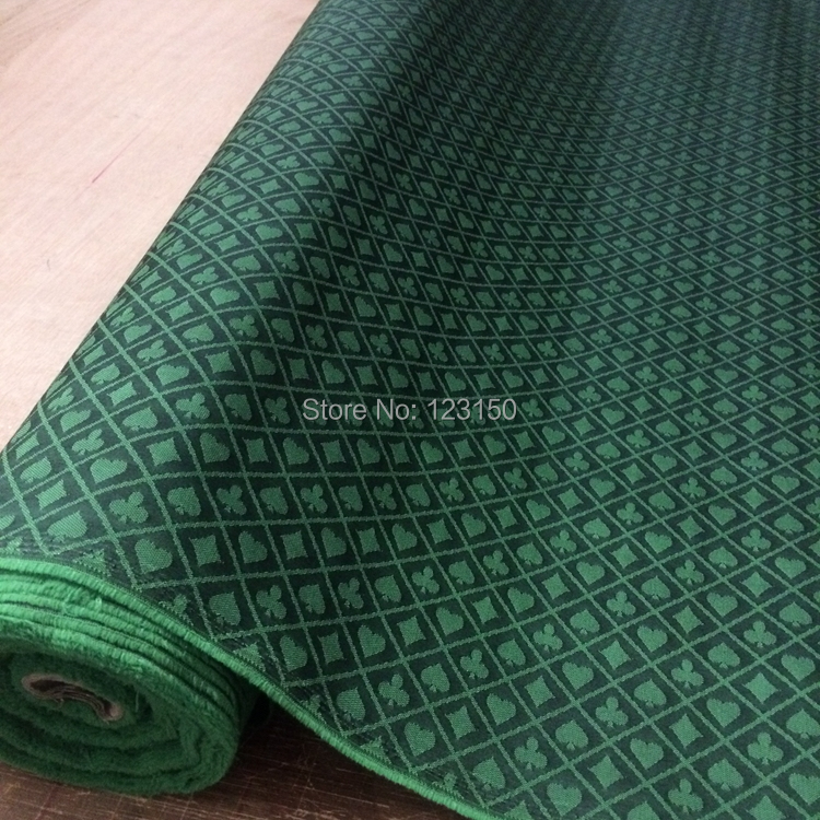 FT-04 Two-tone poker table speed cloth,2.5 Meters Length, Black and Green Waterproof Suited High Speed Cloth for Poker Table
