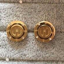 2017 new luxury jewelry mens women AAA+ CZ diamond round Stud Earrings 18K white yellow rose gold Earrings Christmas present
